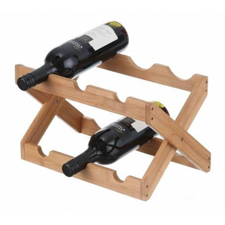 Wine Rack Bamboo 6 Bottle