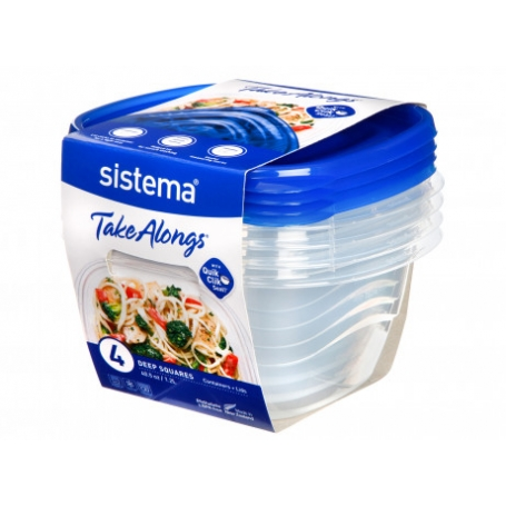 Sistema 4 Pack 1.2L Food Storer