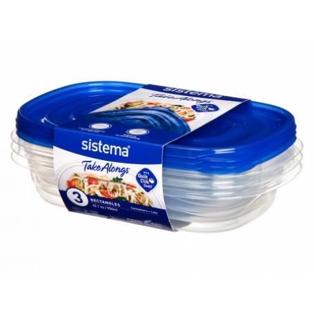Sistema 3 Pack 950ml Food Storer