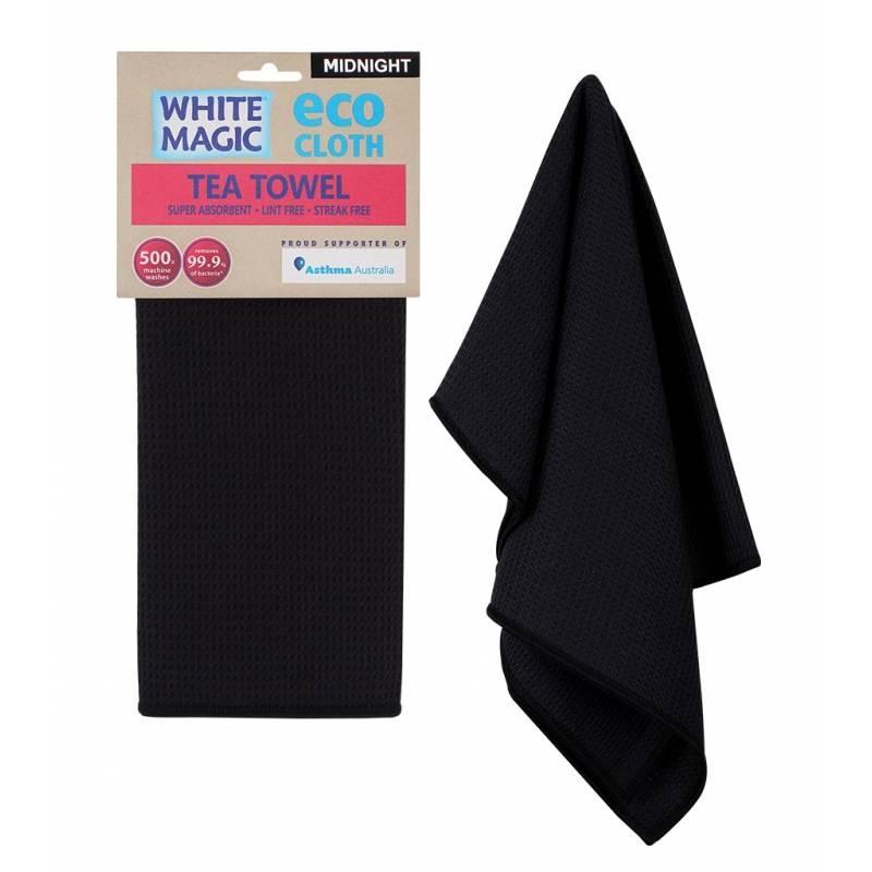 Tea Towel - Midnight Black