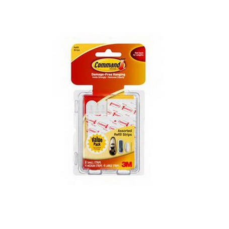 Command Clear Refill Strips Assorted 16 Pack