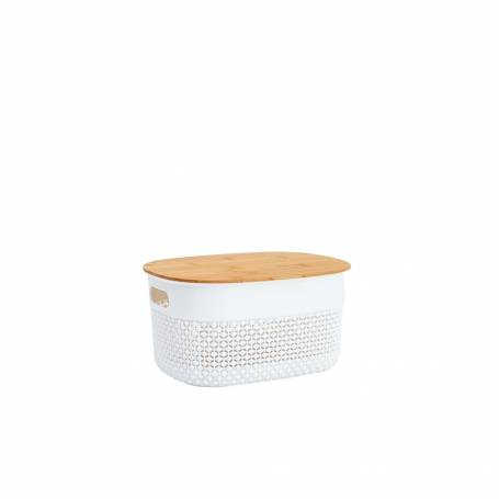 Oval Basket with Bamboo Lid 3.5L