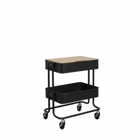 Trolley 2 Tier - Black
