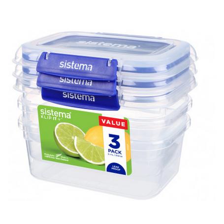 Sistema Klip it+ 1L Food Storer 3 Pack