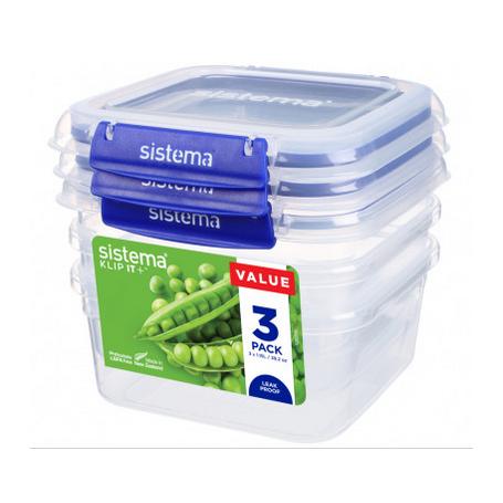 Sistema Klip it+ 1.15L Food Storer 3 Pack