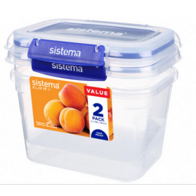 Sistema Klip it+ 1.49L Food Storer 2 Pack