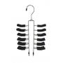 Tie & Belt Hanger 24 Tier Black