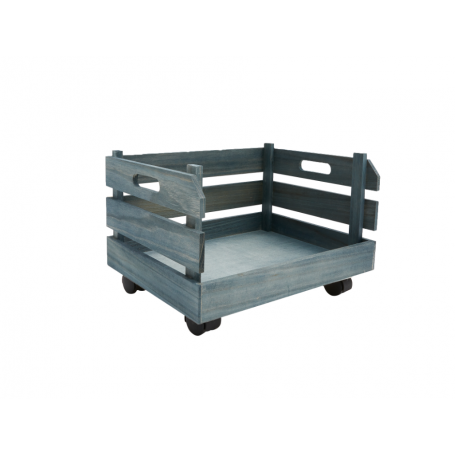 Wooden Crate with wheels