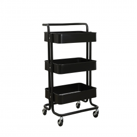 Trolley 3 Tier Black