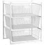 Mesh Drawer Baskets 3 Tier White