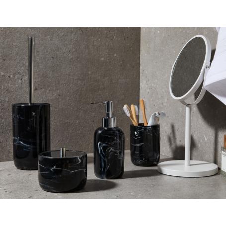 Toilet Brush Holder Black Marble