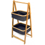 Laundry Hamper Bamboo 2 Tier