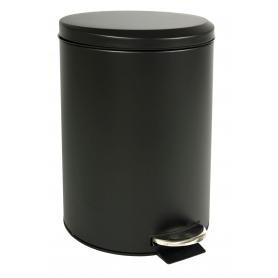 Black Pedal Bin 12L