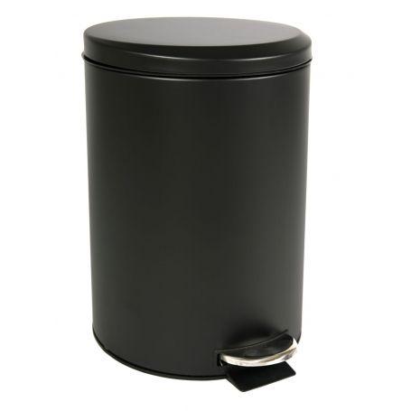 Black Pedal Bin 20L