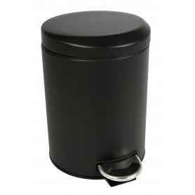 Black Pedal Bin 5L