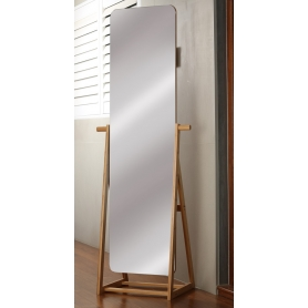 Frameless Bamboo Mirror